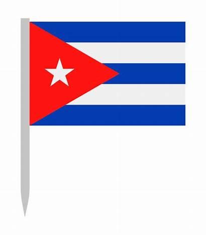 Flag Cuban Clip Vector Illustrations States United