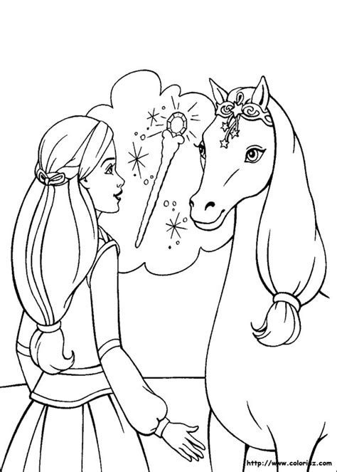 dessins de coloriage magique cheval  imprimer