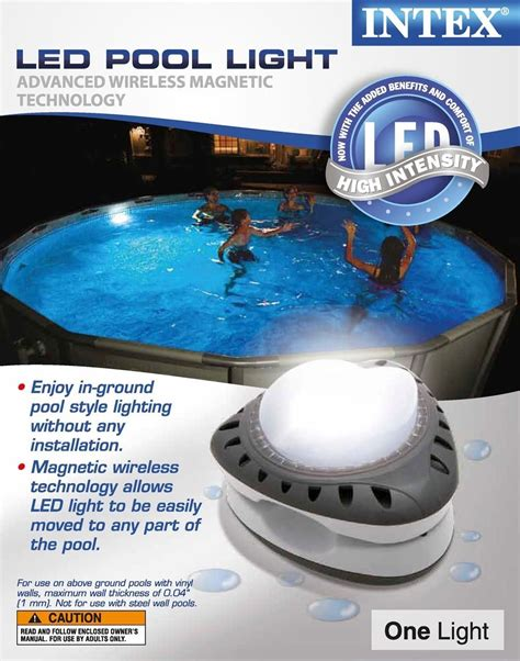 intex pool led intex above ground led magnetic swimming pool light 28687e