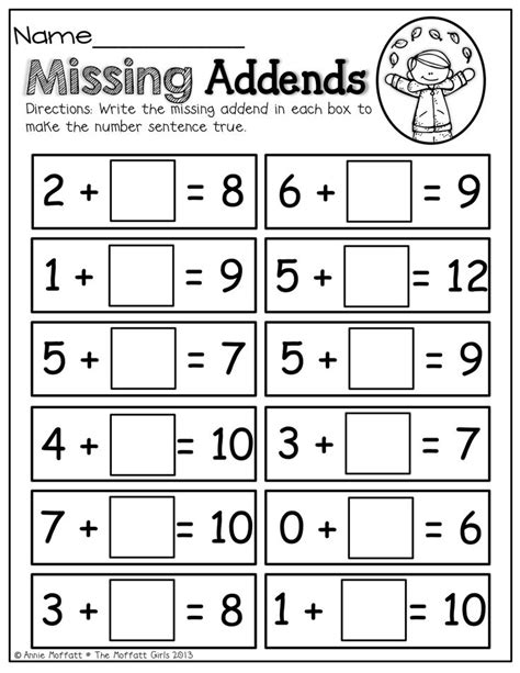 16 Best Images Of Missing Addend And Subtrahend Worksheets  Addition With Missing Addends