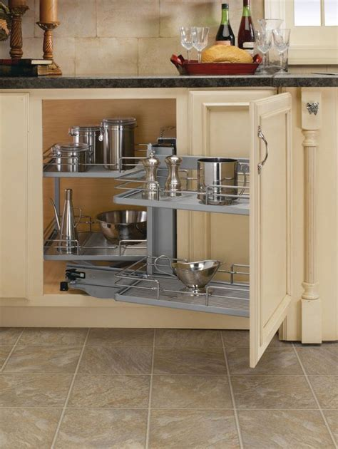 kitchen cabinet corner shelf rev a shelf 5207 cr chrome 5207 series pivot out blind 5207