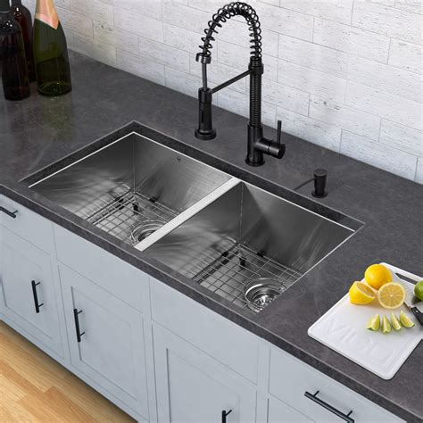 kitchen sinks and faucets kitchen sink and edison matte black pull spray