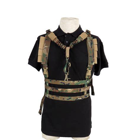 buckle vest tactical h harness gun sling molle vest with