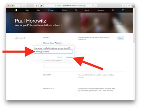 change email address on iphone how to change email address linked to apple id