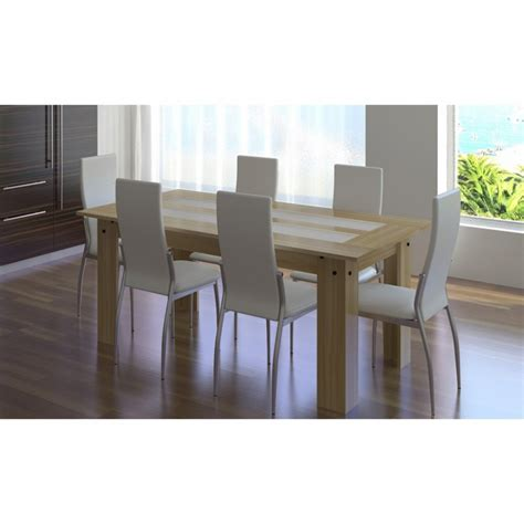 ensemble table chaise ensemble table bois 6 chaises blanche pas cher