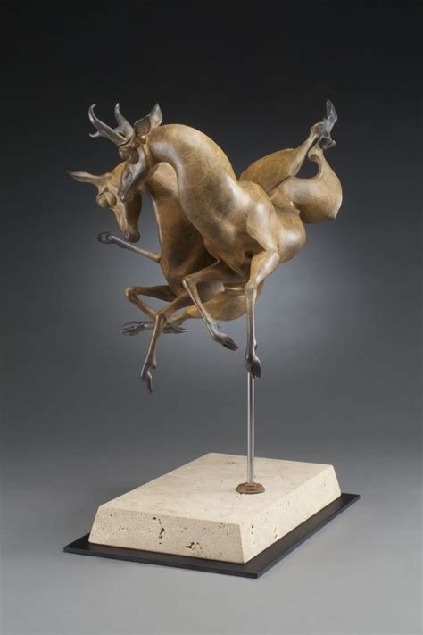 sculpture autumn winds abstract antelope buck doe