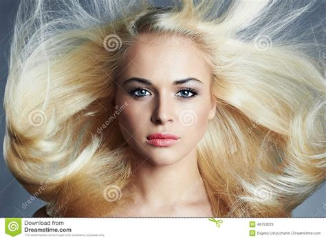 Young Beautiful Blond Woman With Long Hairpretty Girl