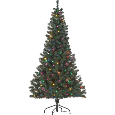 starlite 6 ft pre lit canadian fir with multi colored lights trees stands shop the exchange