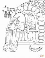 Coloring Oven Stove Gretel Witch Door Iron Shuts Herself Gets While Printable Illustration Drawing Dot Getcolorings sketch template