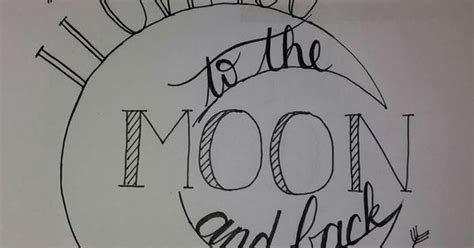 love    moon   handlettering