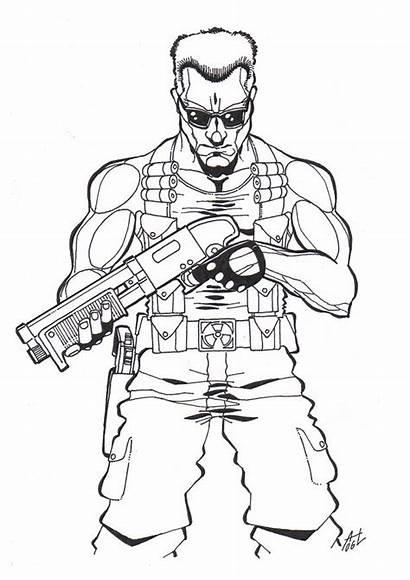 Duke Nukem Drawing Deviantart Sketch Ass Pencil