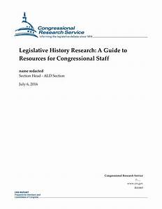 Legislative History Research  A Guide To Resources For