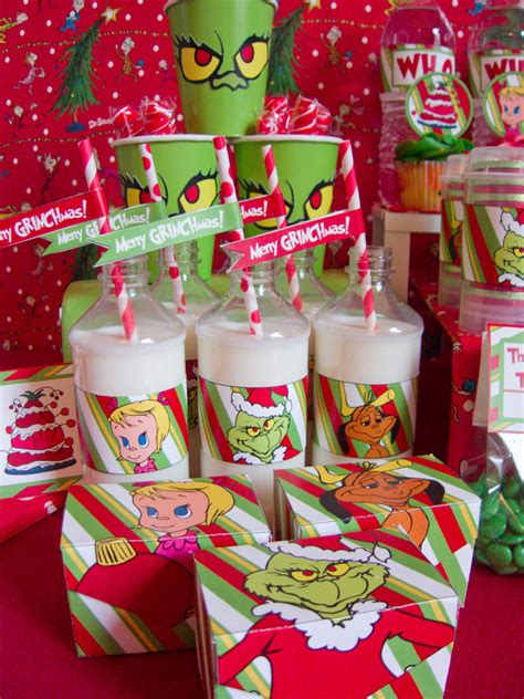 grinch christmas party ideas chica  jo