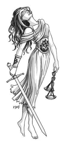 Image result for justice goddess | Dessin | Pinterest | Tatouage, Idee tattoo et Dessin