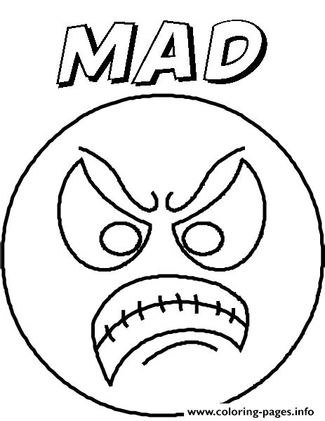 emotion angryblank coloring pages printable