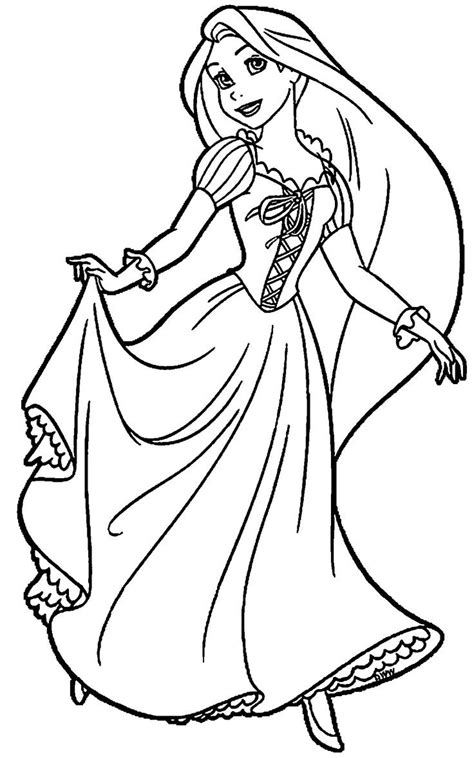 rapunzel coloring page  linearts   coloring