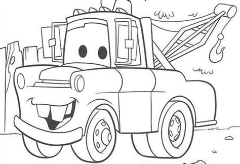 mater  cars coloring pages   print