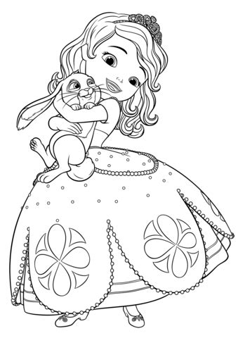 sofia and clover coloring page free printable coloring pages