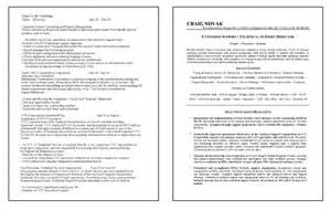 resume format for technical support executive outstanding it support resume