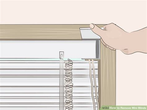 how to remove blinds from window how to remove mini blinds 14 steps with pictures wikihow