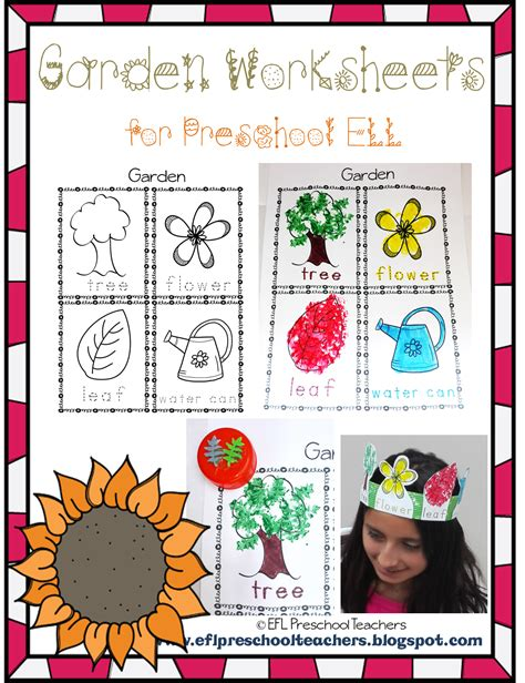 esl efl preschool teachers garden theme resources for the 898 | Imagen2
