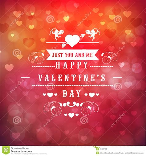 Greeting Card Design For Happy Valentines Day Celebration ...