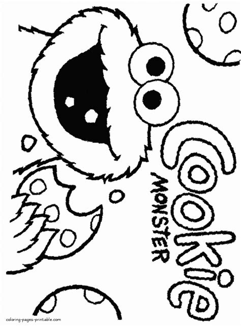 Cookie Monster portrait coloring page COLORING PAGES