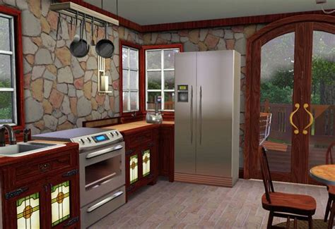 sims kitchen ideas sims 3 craftsman style cottage kitchen compatible with