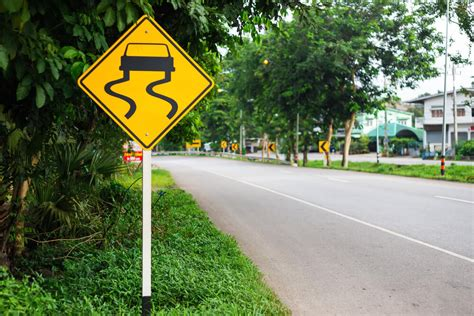 Slippery Road Sign: What Does it Mean?