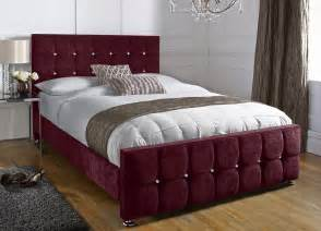 Velvet Headboard King Size by Chenille Aubergine Superking Barcelona Bed Handcrafted In