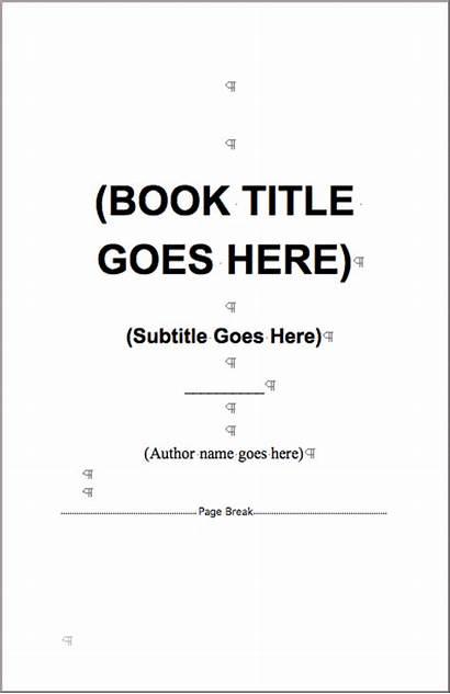 Word Templates Template Microsoft Books Self Author