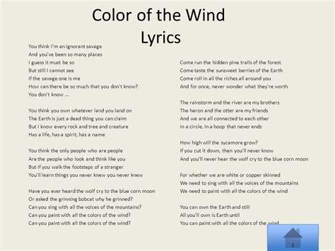 lyrics colors of the wind colors of the wind lyrics 25