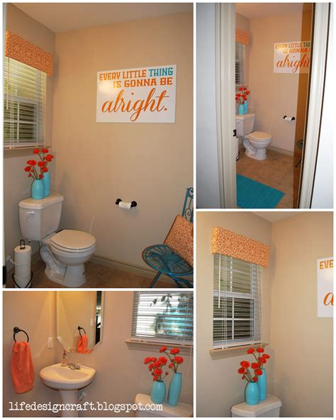 bathroom ideas pictures free orange turquoise bathroom with free print quot every