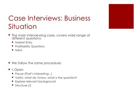 interview case case interview training
