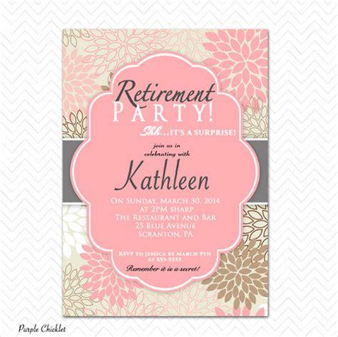 retirement party invitation template 9 invitation free sle exle format free premium templates