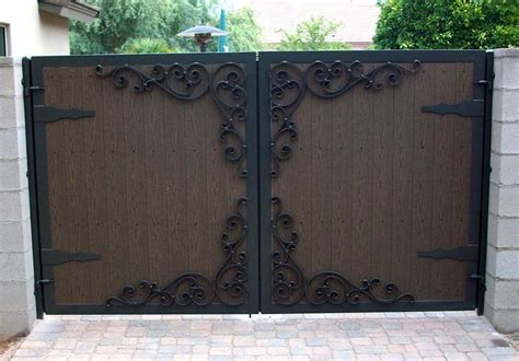 solid fill gates images  pinterest driveway