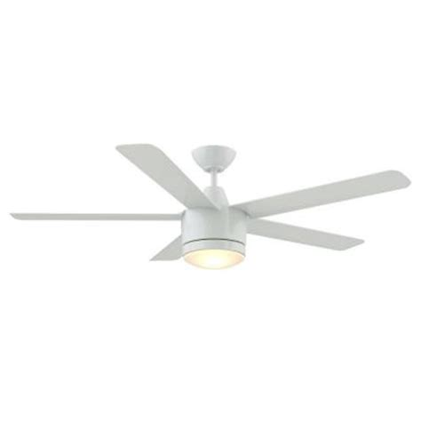 merwry 52 in led indoor white ceiling fan home decorators collection merwry 52 in white indoor led