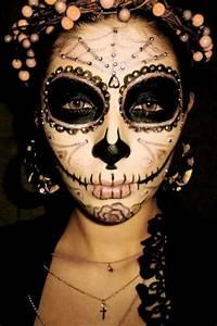 Make Up Ideen : halloween outfit ideen sugar skull make up ~ Buech-reservation.com Haus und Dekorationen