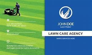 Free lawn care business card template for photoshop for Lawn care business cards templates free