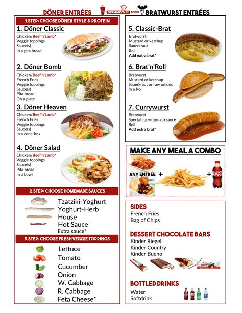 german cuisine menu germany 39 s no 1 food truck menu doener kebab bratwurst