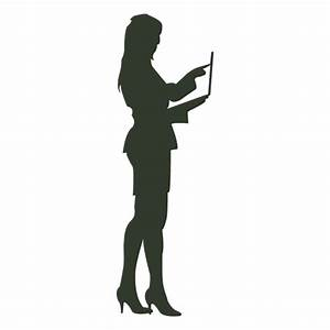 Woman working silhouette - Transparent PNG & SVG vector