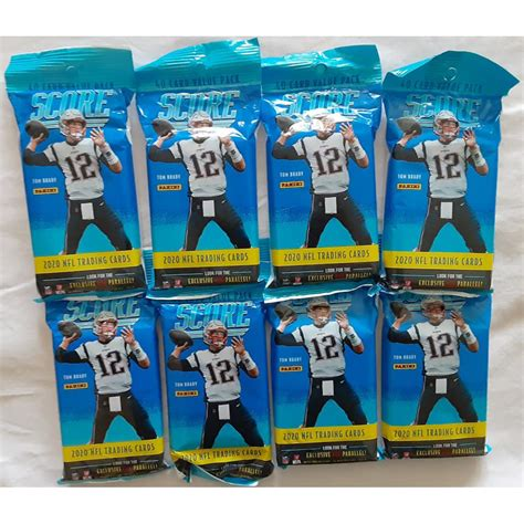 Lot of (8) 2020 Score Football Card Retail Fat Packs with ...