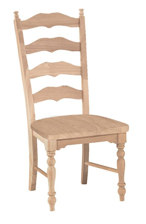 unfinished maine ladderback chair  wood seat built