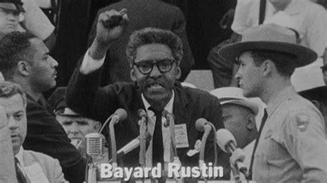 negro y pacifista bayard rustin es recordado