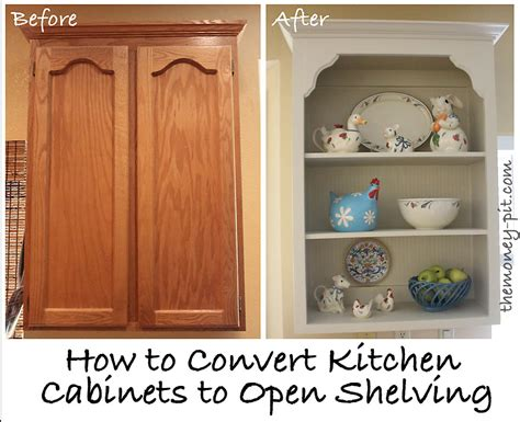 how to build open cabinets tutorial turning cabinets into custom shelves the kim