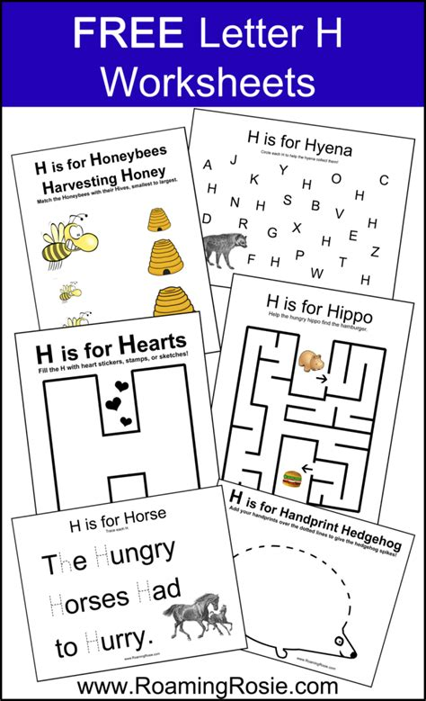 free printable letter h alphabet activities worksheets 507 | 80a7b662b9bbc2ec4b7176febbadc66c