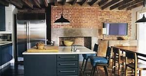 la brique rouge cree l39esprit new yorkais floriane lemarie With idee amenagement exterieur maison 12 brique de parement comme deco interieure idees