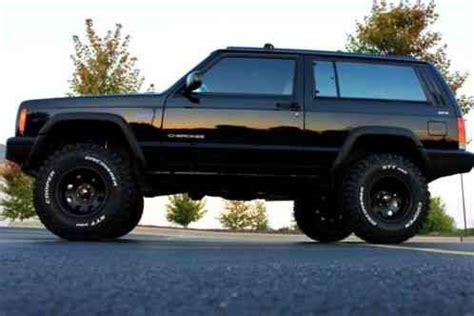 lifted jeep 2 door jeep cherokee black lifted 2 door xj sport 4 0 4x4 105k