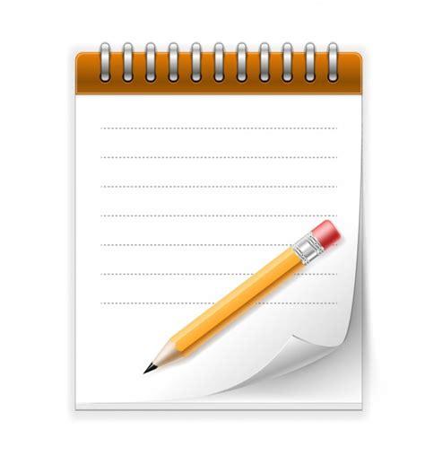 bloc notes et crayon t 233 l 233 charger des vecteurs gratuitement