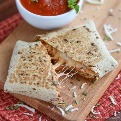 easy chicken parmesan wraps two healthy kitchens